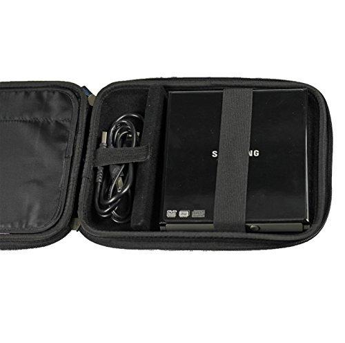 iGadgitz Black EVA Travel Hard Case Cover Sleeve for External USB DVD CD Blu-Ray Rewriter / Writer by igadgitz (Image #3)