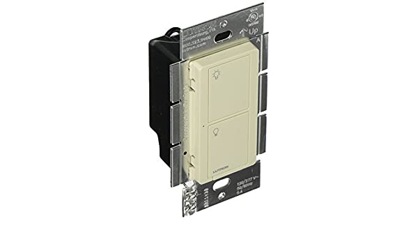 Lutron PD-5WS-DV-LA Caseta Wireless 5A Lighting 3A Fan RF On/Off Light Switch, Light Almond - - Amazon.com