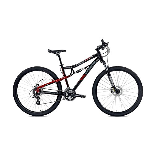 Head Rise TL Full Suspension Mountain Bicycle, 17.5-Inch/Medium, Black