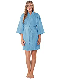 Lightweight Thigh Length Waffle Kimono Bridesmaids Spa Robe