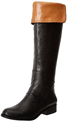 Nine West Women's Niteracer Slouch Boot,Black Leather,9 M US