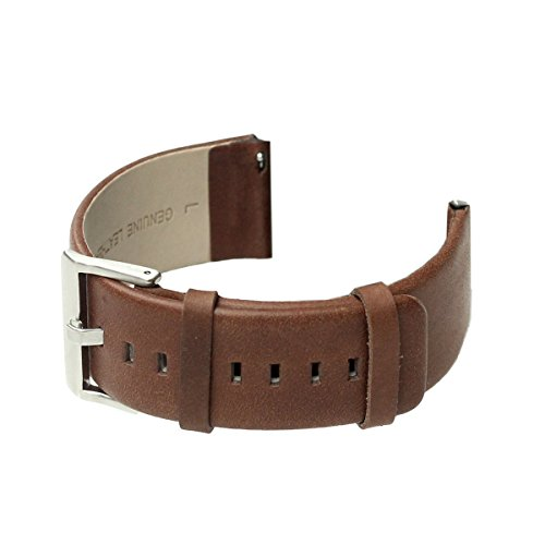 bayite Accessory 23mm Leather Bands for Fitbit Blaze Smart Watch Chocolate Brown Large 6.3 - 8.1 inches