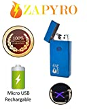 ZAPYRO Reachargable E-Lighter - X Plasma Lighter - Dual Arc Lighter - Micro USB Charging Cable Included [100% Satisfaction Guarantee]