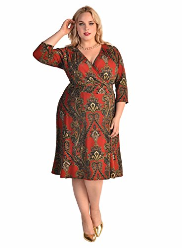 IGIGI Women's Plus Size Donna Dress in Amazing Paisley 14/16