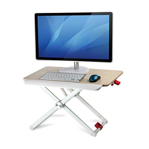 Standing Desk Converter - Portable Height Adjustable Sit /Stand Desk Stand up Workstation 23.6 x 16 inch Concise Design by Honguo