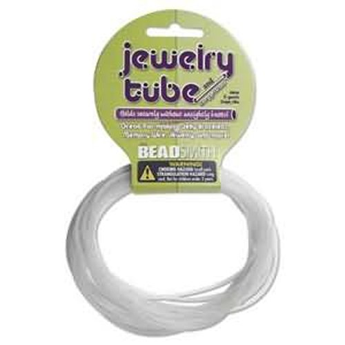 Frosted Clear Rubber Tube for Jelly Necklaces & Bracelets / 5 Yards