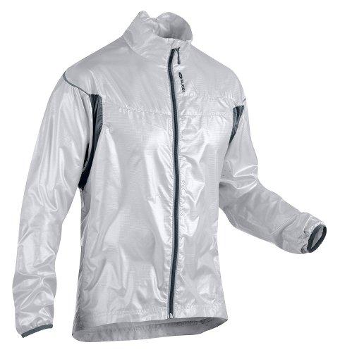 Sugoi Men's Helium Jacket (White/Smoke, Small) Helium Cycling Jacket