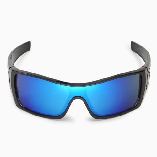 e6aa2a74b7 New Walleva Polarized Fire Red + Ice Blue Lenses for Oakley Batwolf ...