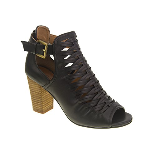 Chinese Laundry Womens Tatiana Split Suede Ankle Boot Black Size 6.5