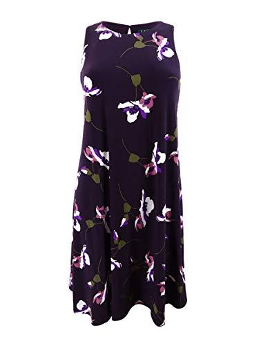 Lauren by Ralph Lauren Women's Floral-Print Jersey Dress (12, ()