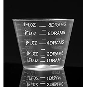 HomEquip 30ml / 1 Oz (100 Count) Graduated Medicine Cups- Non-Sterile, Disposable Plastic
