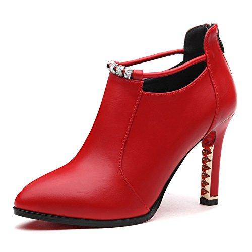 PUMPS Ladies und Schuhe,Casual Pointy Heels-B Fußlänge=22.8CM(9Inch)