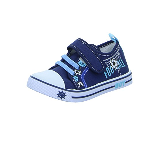 Sneakers L2625 Jungen Leinen Slipper/Kletthalbschuh Blau (Blau)