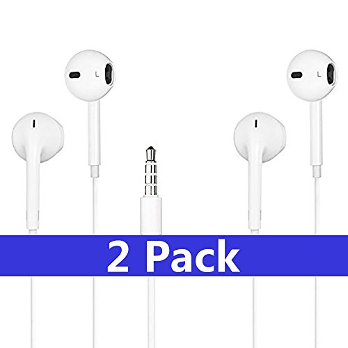 Earbuds,SUREWIN REWIN iPhone Headphones with Microphone Stereo Earphones with Mic and Remote Control for iPhone 6s Plus 5s 5 4s 4 SE 5C iPad iPod 7 8 7s IOS S8 7 6 Note 1 2 3 In Ear Earphones Earbuds