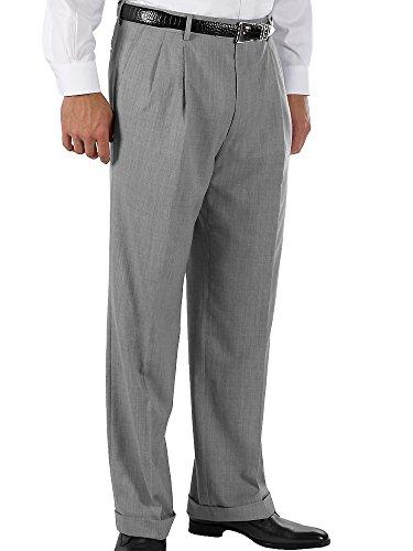 (Paul Fredrick Men's Wool Gabardine Pant Pearl Grey 36)