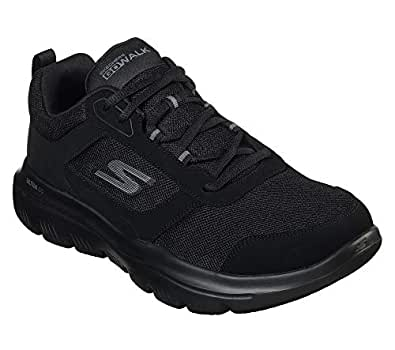 SKECHERS Go Walk Evolution Ultra, Men's Road Running Shoes, Black, 8.5 UK (43 EU)