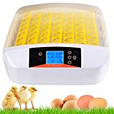 56 Egg Incubator with Eggs Turner,Digital Automatic Egg Incubators for Hatching Chicken Duck Quail Birds Eggs Poultry Hatcher,Encubadora De Huevos (56 Egg Incubator)