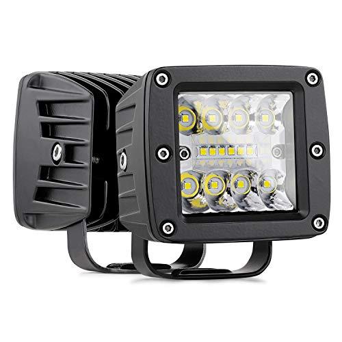 Cube 3 Light - LED Cubes, Nirider 2PCS 84W CREE 3 Inch LED Pod Lights Off Road Driving Lights Spot Flood Combo LED Light Bars Fog Lights Square LED Work Light for Truck Jeep Car SUV ATV UTV Boat, 2 Yrs Warranty