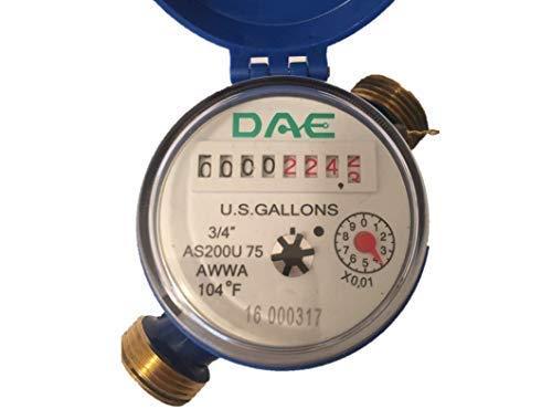 DAE AS200U-75 Water Meter, 3/4'' NPT Couplings, Measuring in Gallons