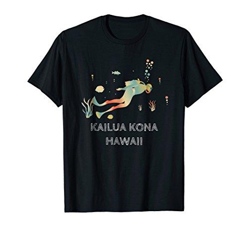 Diving at Kailua Kona, Hawaii Vintage T-Shirt