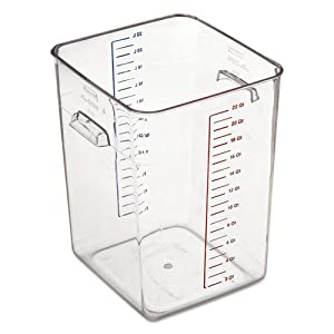 Rubbermaid Commercial 632200 CLR Space Saver Square Container