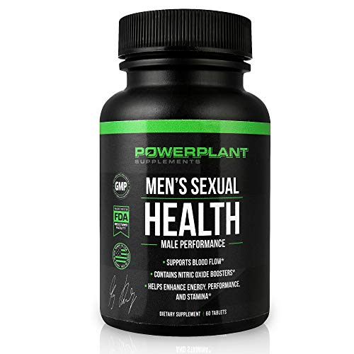 Powerplant Supplements Nitric Oxide Booster - Men's Health Supplement and Testosterone Enhancer - Blood Flow, Circulation - Horny Goat Weed, Maca Root, L-Arginine, L-Citrulline, Zinc Tablets