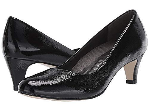 Black Tumbled Patent Walking Cradles Women's Pleasure Cognac Roughout Leather clogs-and-mules 7 N