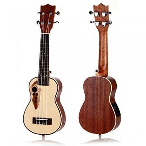 Soprano Ukulele Uke 15 Frets EQ Musical Instrument 21-Inch - 1