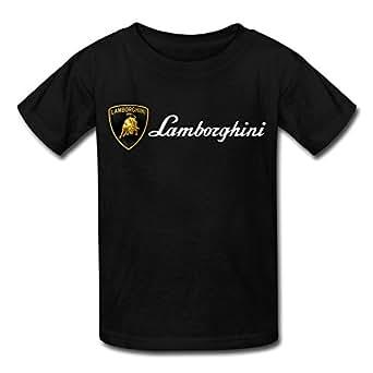 kid 39 s lamborghini logo t shirts black clothing. Black Bedroom Furniture Sets. Home Design Ideas