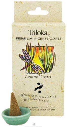 Triloka Premium Cones Windrose, Incense Cone Lemon Grass, 0.7 Ounce