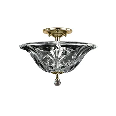 Dale Tiffany GH11234PB Angelino Flush Mount Light Fixture, Polished Brass