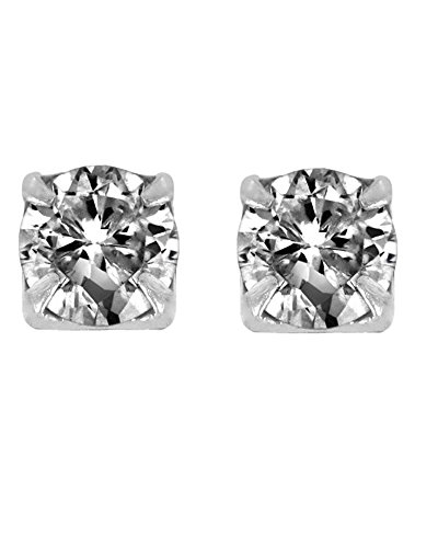 c Zirconia CZ Magnetic Sterling Silver Stud Earrings 3mm (Magnetic Sterling Silver Ring)
