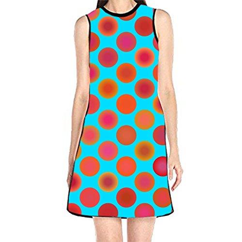 (Women's Sleeveless Sundress Summer Splash Print Print T-Shirt Dress A-Line Tunic Shirt)