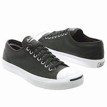 Converse Mens Jack Purcell Leather (Black/White 6.5 - Purcell Converse Jack Leather