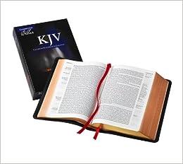 KJV Clarion Reference Bible, Black Edge-lined Goatskin Leather