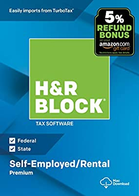 H&R Block Tax Software Premium 2018 with 5% Refund Bonus Offer [Amazon  Exclusive] [Mac Download]