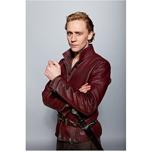 The Hollow Crown Tom Hiddleston as Prince Hal Arms Crossed in Red Leather 8 x 10 inch - Tom Dominic