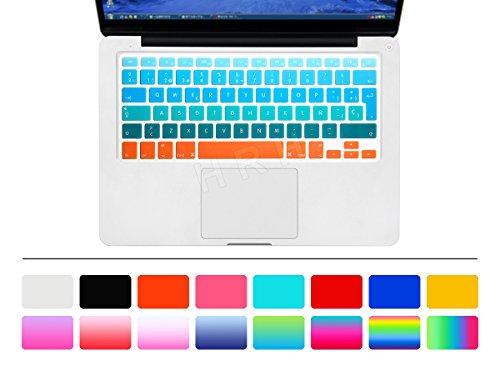 HRH Gradient Rainbow Spanish Keyboard Cover for MacBook Pro 13