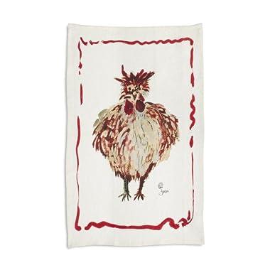 Sur La Table Jacques Pepin Collection Chicken Linen Kitchen Towel, 28  x 18