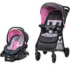 Strolling is easy with the Disney Smooth Ride Travel System. This clever stroller and car seat combo gives you everything you need to truly enjoy your time when out and about with your baby. Agile wheels provide maximum maneuverability around...