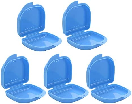 SUPVOX 5 Piezas Caja de Dentadura Estuche de Almacenamiento Dental para Ortodoncia Protesis (azul): Amazon.es: Salud y cuidado personal