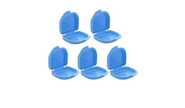 Healifty 5 Piezas Caja de Dentatura para Ortodoncia Protesis Dental (azul): Amazon.es: Salud y cuidado personal