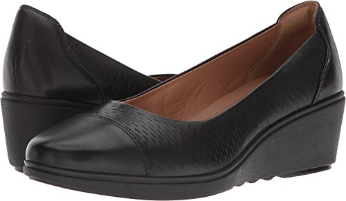 CLARKS Women's Un Tallara Dee Wedge Dress Shoe Black 9 M US