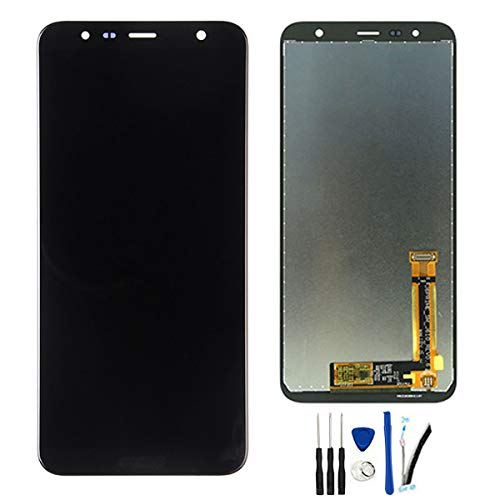LCD Display Screen Digitizer Touch Screen Glass Panel Assembly Replacement for Galaxy J4+ J415 SM-J415F J415G J415FN J4 Plus Black ()