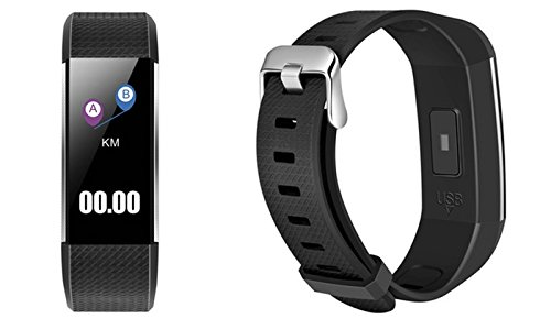 ETCBUYS Fitness Tracker & Exercise Watch - Smart Band Features and Monitors Heart Rate, Blood Pressure, Blood Oxygen, Sleeping Patterns Pedometer, Sedentary, Hydration Reminder and More. by ETCBUYS
