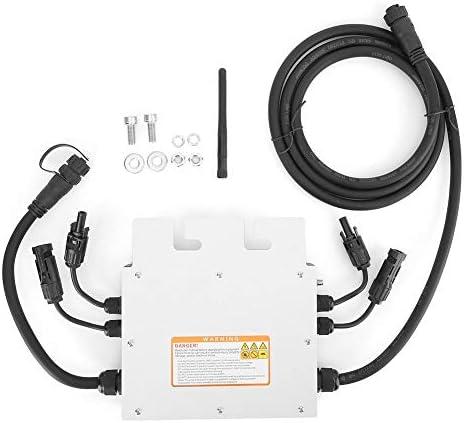 Micro Solar Wechselrichter, 500W MPPT LED Anzeige Micro Grid Tied IP65 Wasserdichter Solar Spannungswandler SG500MD mit Empfänger 120V 230V