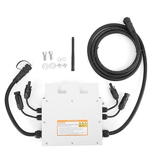 600W Solar Wechselrichter , 120V 230V Micro Solar Wechselrichter , Wasserdichter Netzwechselrichter Solar Wechselrichter , mit Schutzfunktion, Spannungsschutz, Frequenzschutz