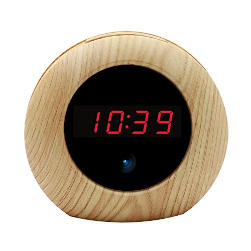 Hidden Camera Alarm Clock HD 1080P Loop Video Recording Home Security Camera with Motion Detection Remote Controller Camera