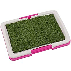 SaveStore Pet Puppy Toilet Urinary Trainer Grass Mat Potty Pad House Litter Tray Mascotas Cachorro Pink