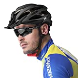 KINGBIKE Ultralight Specialized Bike Helmets with Rear Light + Portable Simple Backpack + Detachable Visor for Men Women(M/L,L/XL)